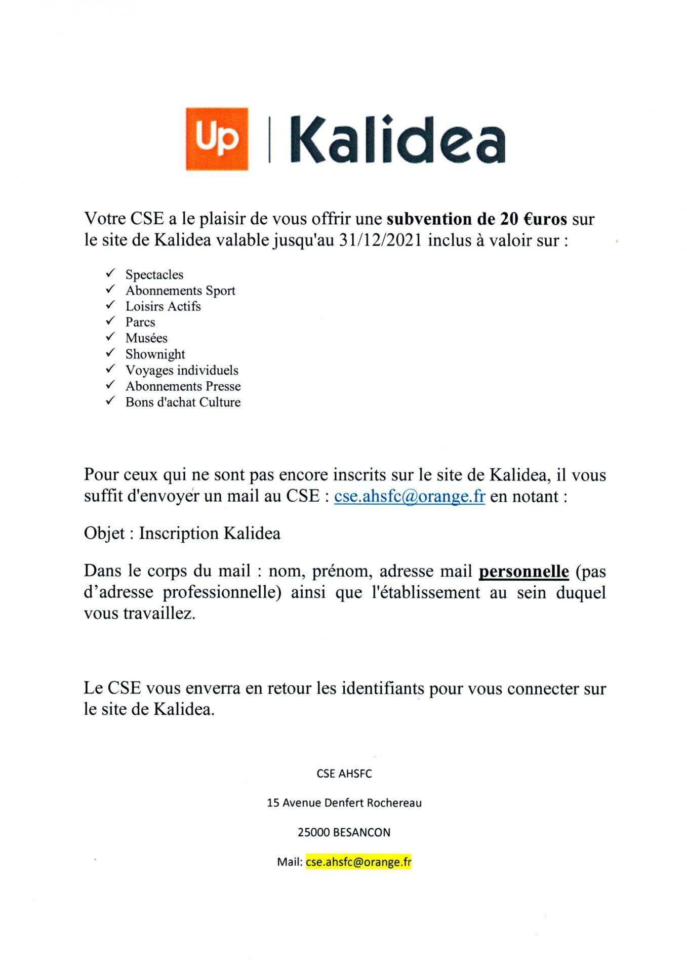 Kalidea subvention 2021 de 20 1